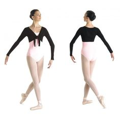 Mirella Top Sweater Long sleeve tie top sweater in fine gauge jersey knit, has ribbed trim at arm openings. Fabric: Jersey and Rib - Rayon / Nylon / Spandex Sizes: S/M, M/L Colours: black Price: Dance Warm Up, Dance Wear, Long Sleeve Sweater, Wetsuit, Active Wear, Ballet Skirt, Spandex, Tie, Skirts