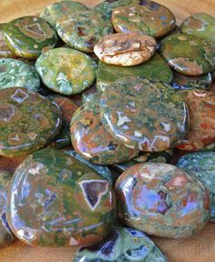 Rainforest Jasper smooth stone - The Wishing Stone for wish fulfillment, manifestation magic, and physical healing