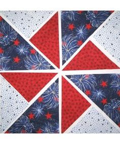 Fireworks Fabric Pinwheel Quilt Kit (12 Blocks) | Overstock.com Shopping - The Best Deals on Quilting Kits