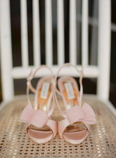 Blush pink shoes