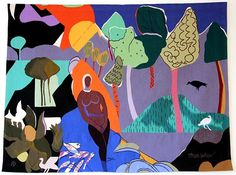 Recollection Pond by Romare Bearden from Jane Kahan Gallery