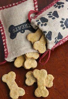 Peanut Butter Pumpkin dog treats (homemade)