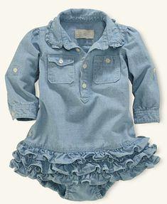 Ralph Lauren Baby Dress, Baby Girls Chambray Dress