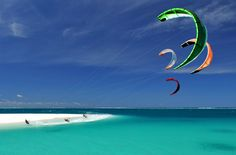 Beautiful kitesurf Spot.This is real extreme cooool!!!