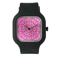 Lines Clock in Pink Watch