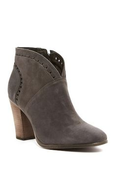 Image of Vince Camuto Fritan Bootie - Slim Width Available Casual Chic Style, Vince Camuto, Nordstrom Rack, Block Heels, Booty, My Style, Womens Fashion, Leather, Alison Jones