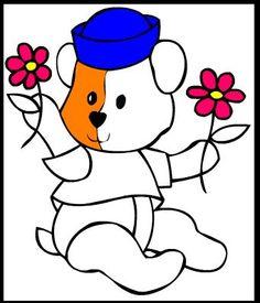 Colorir online Ursinho de Pelucia, Pintar online Ursinho de Pelucia