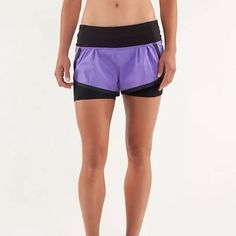 Lululemon Run Squad Shorts Excellent condition! I ended up with 2 pairs of these in this color. Size 4. Compression shorts with zipper pocket (I can fit an iPhone 5 in it) plus two pockets on the hips & a continuous drawstring. Love these! lululemon athletica Shorts