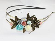 ♦ Pastell Garten ♦ märchenhafter Haarreif von Freulein Emma auf DaWanda.com