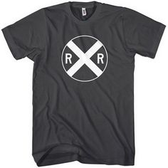 Railroad Crossing Sign Tshirt  Men XS to 4XL and by smashtransit, $20.00