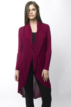 Take a look at this Rouge Wool-Blend Hi-Low Open Cardigan by Sioni on #zulily today! $45 !!