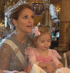 Princess Madeleine and Princess Leonore of Sweden at My Big Day' party at the Royal Palace. 22 Feb. 2016.