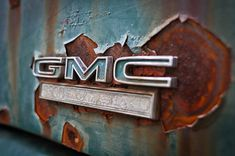 Rustic decor GMC rust truck pickup aged worn by brandMOJOimages, $35.00