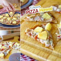 Pizza Hawai - zdravá fit - recept Bajola Clean Eating, Pizza, Fat, Breakfast, Fitness, Pineapple, Morning Coffee, Eat Healthy, Healthy Nutrition