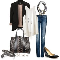 perfect casual friday outfit...but i would probably wear different shoes