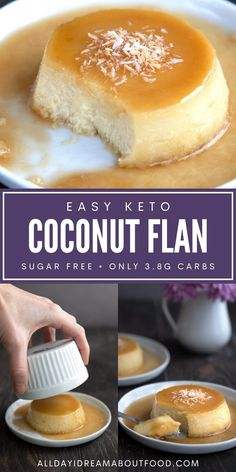 This delectable keto flan is a sugar-free version of the classic Flan de Coco. It's a rich custard with coconut milk and shredded coconut, topped off by a sweet caramel sauce. And it's surprisingly easy to make!