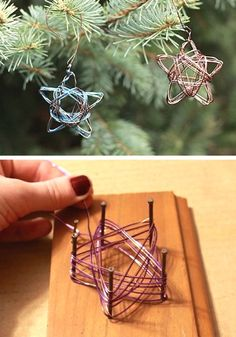 Handmade Star Wire Ornament A cheap(compliment here) and simple ornament to try.