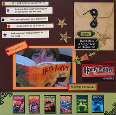"Should put the ""acceptance letter"" in the scrap book!  Harry Potter - Scrapbook.com"