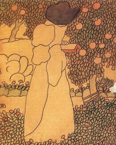 Woman in the garden | Jozsef Rippl-Ronai, 1861-1927, Hungary | @ Reading and Art