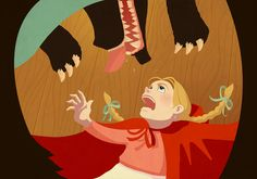 Red Riding Hood by Roland MacDonald, via Behance eye candi, red riding hood, capuchinho vermelho, creativ illustr, big eye, festa chapeuzinho, chapeuzinho vermelho