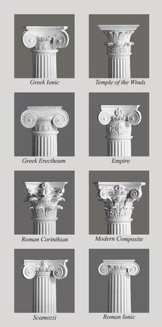 Column Capitals- for kids who are stuck and want a challenge- try a candle holder that is a specific era of column.