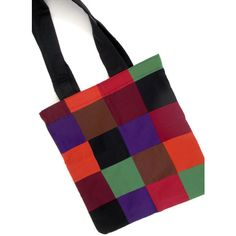 Colorful Tote Bag (€24) ❤ liked on Polyvore featuring bags, handbags, tote bags, multi colored handbags, cotton tote bags, tote purses, tote bag purse and print tote
