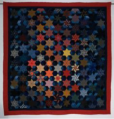Aizu no Genso - Reminiscent of Aizu - 150 x 185 cm Sewn and quilted by hand - 2014.  Chambre des Coulours (France).