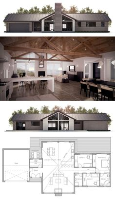 I think I would make the fireplace side the backyard, moving the garage door to…
