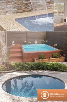Pouco espaço em sua casa não precisa ser um problema para quem quer o conforto de uma piscina. Invista em piscinas pequenas!