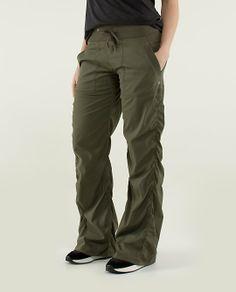 Lululemon Dance Studio Pant Fatigue Green Size 8