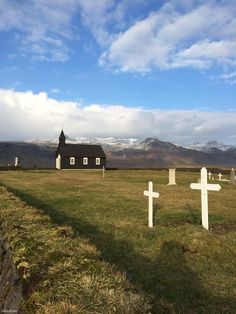 The little black Budir Church, in Iceland, built in the 18th century. Photo taken by SlimPaley.