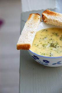 broccoli cheddar soup, looks pretty easy.