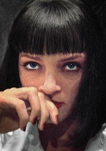 Pulp Fiction Painting - Mia Wallace - Pulp Fiction by Taylan Soyturk