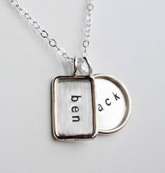 Personalized Hand Stamped Sterling Silver Mixed by jenerijewelry, $100.00