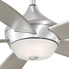 $250 Aire a Minka Group Design Spring Haven 52 in. Indoor/Outdoor Brushed Aluminum Ceiling Fan