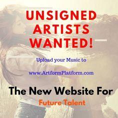 Unsigned Artists Wanted on ArtformPlatform.com by ArtformPlatform
