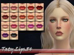 Taty Lips 84 by tatygagg at TSR • Sims 4 Updates