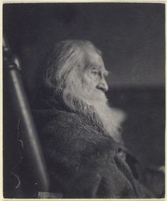 Immensely skilled poet Walt Whitman resembling, with his lanky beard and well creased face, Father Time in a portrait that was snapped just a year before this fascinating man passed away (in 1892). #1800s #Walt_Whitman #poet #Victorian #portrait #19th_century #old #man
