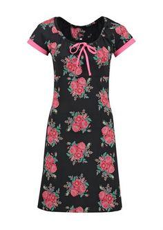Tante Betsy kjole CARMEN les fleurs black