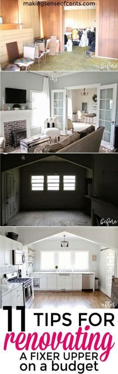 Home Remodeling Old Houses Here is how to save money when renovating a fixer upper - an abandoned 115 year old house. Renovating on a budget, fixer upper homes, is possible! Diy Design, Interior Design, Design Ideas, Diy Interior, Interior Doors, Diy Décoration, Trendy Home, Decorating On A Budget, Old House Decorating