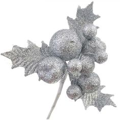 5pcs 16x14cm Glitter Artificial Wedding Party Festival Christmas Leaves Baubles XMAS Tree Wreaths Decor Ornament New Year