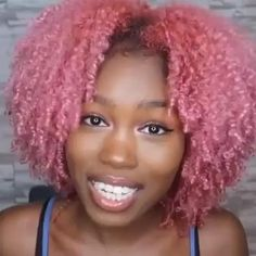 Natural Hair Styles For Black Women, Braided Hairstyles For Black Women, Braids For Black Women, African Hairstyles, Afro Hair Color, Hair Colors, Dyed Natural Hair, Dyed Hair, Peach Hair Dye