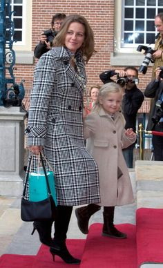 Princess Annette of Orange-Nassau, van Vollenhoven-Sekrève with her daughter Isabella van Vollenhoven