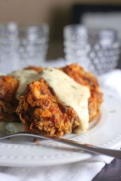 Chicken Fried Pork Chops: Fry these pork chops just like you would fry chicken! These Chicken Fried Pork Chops is a comfort meal for the masses! Pork Chop Recipes, Meat Recipes, Cooking Recipes, Recipies, Cajun Recipes, Sausage Recipes, What's Cooking, Kitchen Recipes, Turkey Recipes