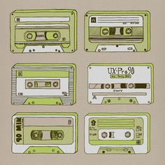 Mixtape Green Print 12x12 now featured on Fab.