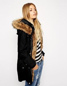 Find the best selection of ASOS Parka In Cocoon Fit With Knitted Cuff. Shop today with free delivery and returns (Ts&Cs apply) with ASOS! Parka, Anorak, Asos, Coats For Women, Jackets For Women, Clothes For Women, Latest Fashion Clothes, Fashion Outfits, Winter Stil