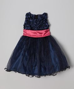 Black Rosette Shimmer Dress - Infant, Toddler & Girls | Daily deals for moms, babies and kids