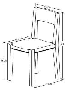 dining chair measurements Google Search Architecture Pinterest