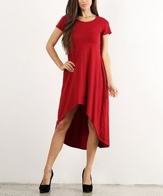 $9.99 marked down from $60! Red Hi-Low Shift Dress #red #dress #zulily! #zulilyfinds