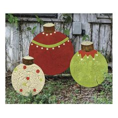 Christmas Garden Stakes | Holiday Décor | Wind & Weather